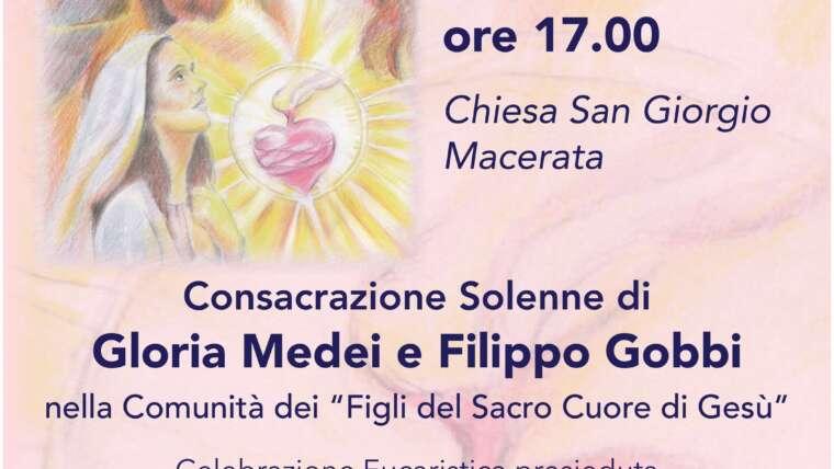 Consacrazione Solenne di Gloria Medei e Filippo Gobbi