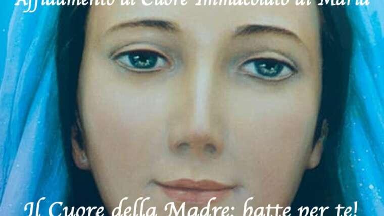 Inizio catechesi per l'Affidamento al Cuore di Maria