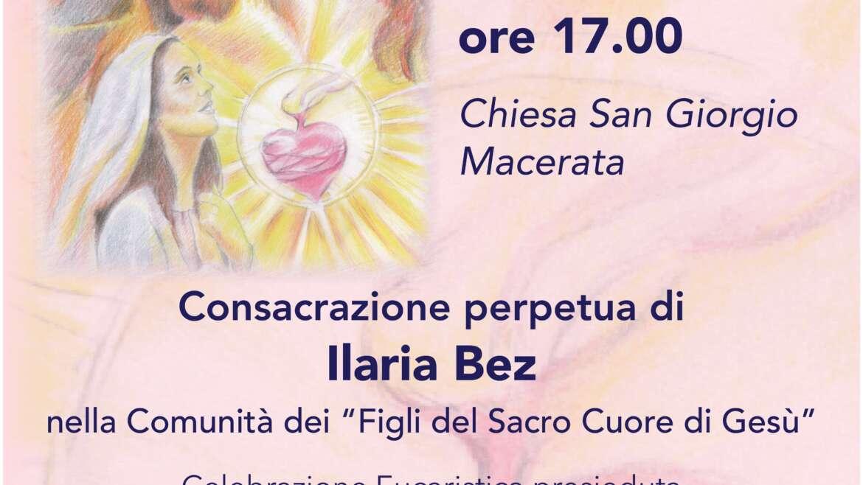 Consacrazione perpetua di Ilaria Bez e Noviziato di Teresa Lorenz